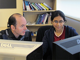 Prof. Yves Lucet and Tasnuva Haque.