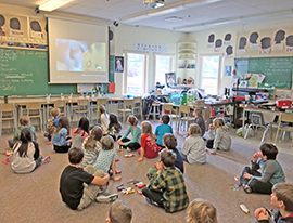 Teacher candidate Brenna Ellis's  class during her practicum at Giant's Head Elementary in Summerland, BC.