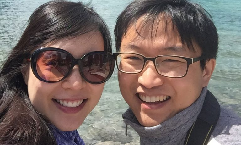 Isaac Li and his wife