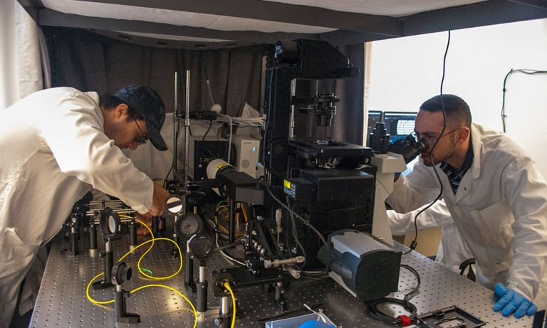 Researchers in Isaac Li's lab