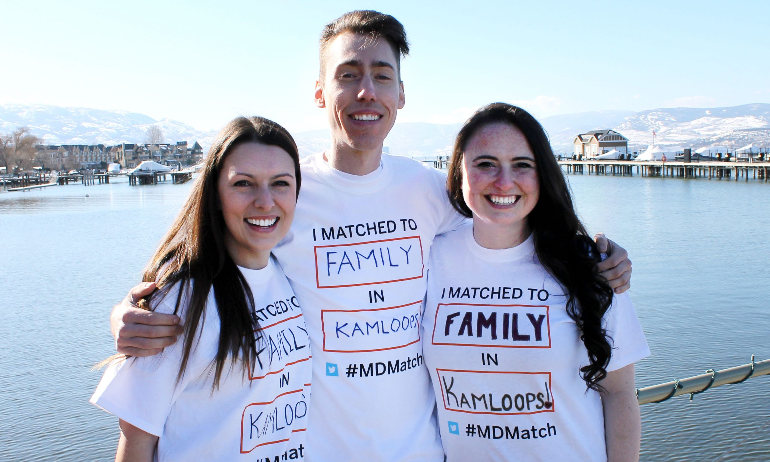 Emma Garson with fellow med students who matched to a family residency in Kamloops