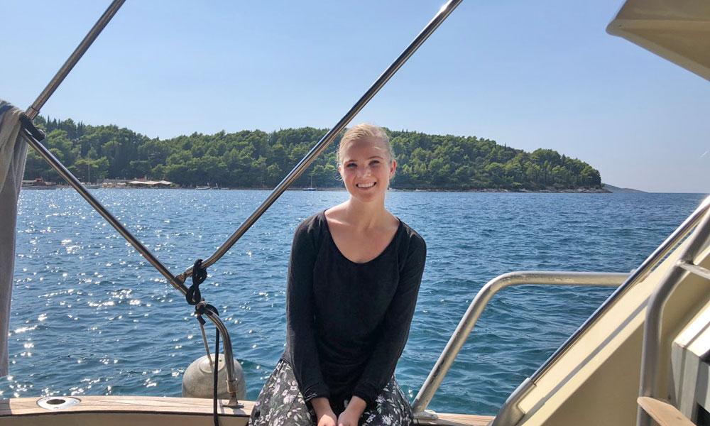 Hannah Caldwell in Cavtat, Croatia.