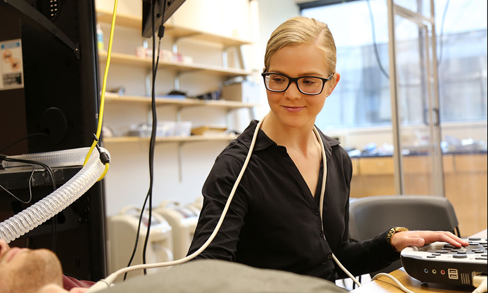 Hannah Caldwell in the lab